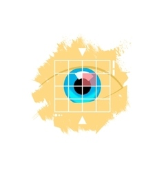 Eye retina scan emblem vector image vector image