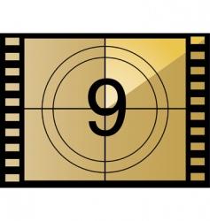 film countdown number vector image