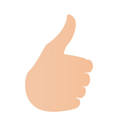 human hand with thumb up vector image vector image