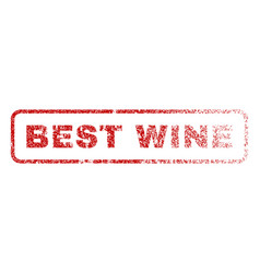 best wine rubber stamp vector image vector image