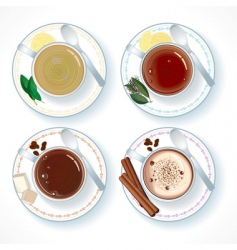 hot drinks vector image vector image