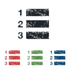 Numbered list grunge icon set vector