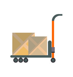packing boxes on truck in flat design vector image vector image