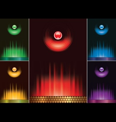 set menu design lights and fire vector image