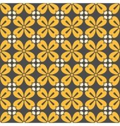 Symmetric geometric floral pattern vector image