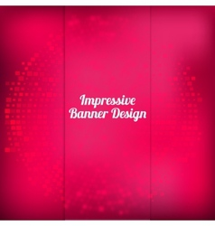 pink banner design with halftone effect vector image vector image