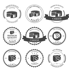 Set of premium Cheese Labels badges vector image