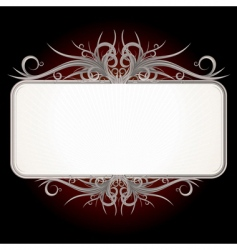 vintage gothic sign vector image vector image