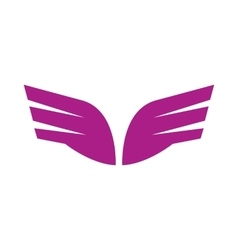 A pair of abstract purple wings icon simple style vector image