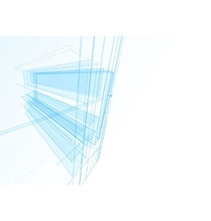 Abstract building from the lines vector