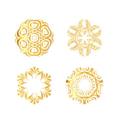 Abstract golden ornament vector