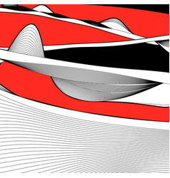 abstract waves and lines color vector image