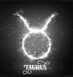 abstract zodiac sign taurus on a vector image