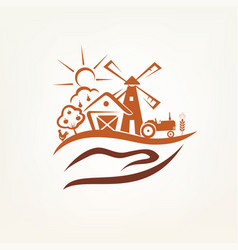 agriculture and farm stylized symbol vector image