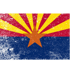 arizona state flag grunge vector image