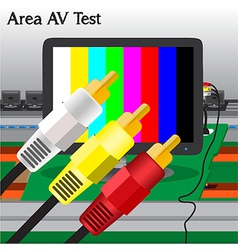 AV signal Test in Process Production Television vector image