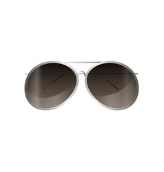 Aviator silver frame sunglasses mirror style for vector