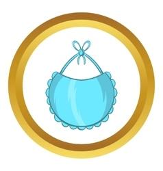 Baby bib icon cartoon style vector