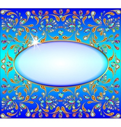 Background image with precious stones gold patter vector