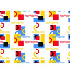 bauhaus design seamless pattern geometric vector image