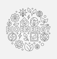 bioenergy round vector image