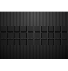 Black concept tech abstract background vector image