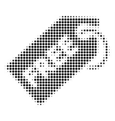Black dotted free tag icon vector