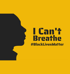Black lives matter concept template vector