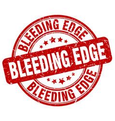 Bleeding edge red grunge stamp vector