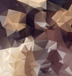 Brown chocolade polygonal triangular pattern vector