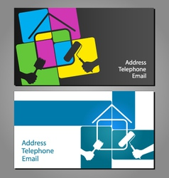 Business card for painting houses vector image