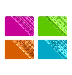 Business Cards with Checked Texture vector