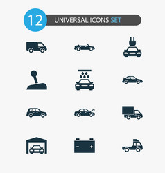 Car icons set collection of crossover vector