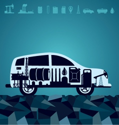 car petroleum vector image