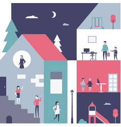 childhood - flat design style conceptual vector image
