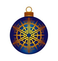 Christmas dark blue ball vector image