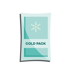 cold pack with liquid or gel for first aid in case vector image