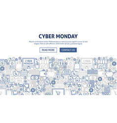 Cyber monday banner design vector