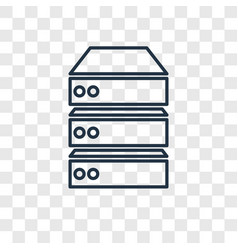 data storage concept linear icon isolated on vector image