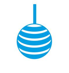 decorative balls icon vector image