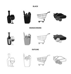 Design of food and drink symbol set of vector