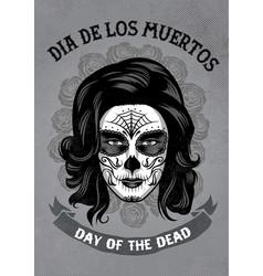Dia de los muertos poster in rusty texture vector