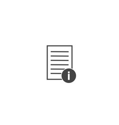 Document info icon on white isolated background vector