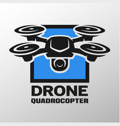 Drone quadrocopter logo vector