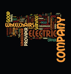 Electric wheelchairs text background word cloud vector