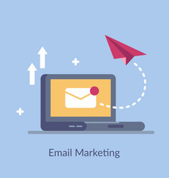 email marketing simple flat vector image