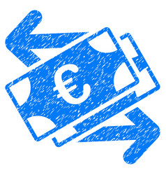 Euro banknotes payments grunge icon vector