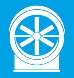 Fan icon white vector