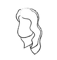 Figure avatar woman face with hairstyle design vector