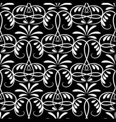 floral damask seamless pattern vector image